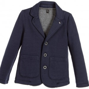 ARMANI TEEN Boys Navy Blue Blazer