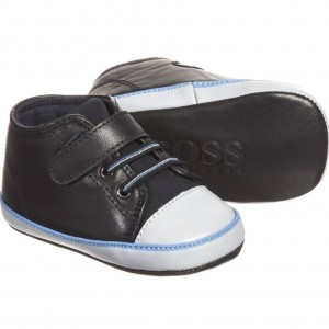 BOSS Baby Boys Navy Blue Pre-Walker Trainers
