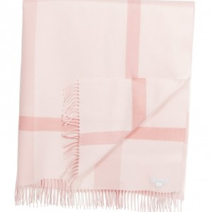 BURBERRY Baby Girls Pink Checked Wool Blanket