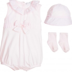 COCO COLLECTION Baby Girls 3 Piece Cotton Shortie Set
