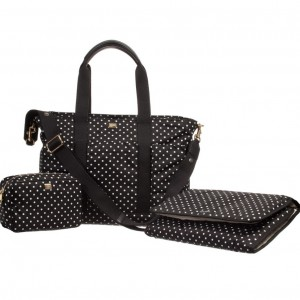 DOLCE & GABBANA Black & White Polka Dot Baby Changing Bag