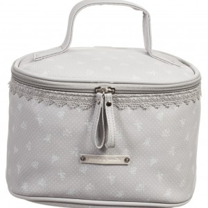 PASITO A PASITO Grey Spot & Floral Toiletry Case