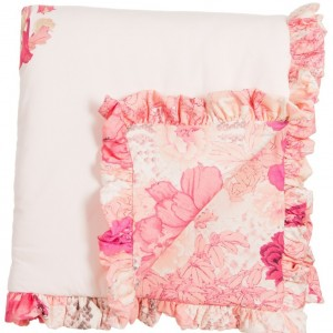 ROBERTO CAVALLI Baby Girls Pink Padded Cotton 'Kyoto' Blanket