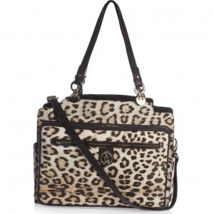 ROBERTO CAVALLI Brown Leopard & Gold Baby Changing Bag