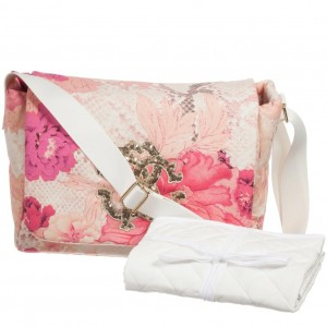 ROBERTO CAVALLI Pink Floral 'Kyoto' Baby Changing Bag