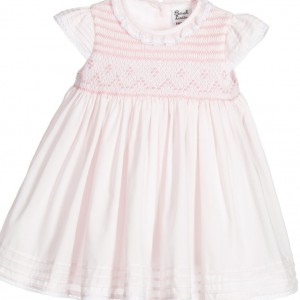 SARAH LOUISE Baby Girls Pink Hand Smocked Dress