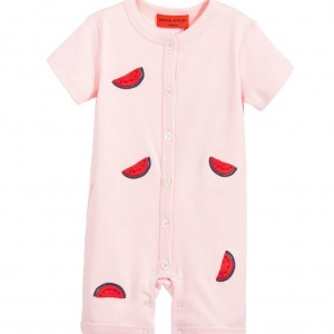 SONIA RYKIEL PARIS Baby Girls Pink Embroidered Watermelon Shortie