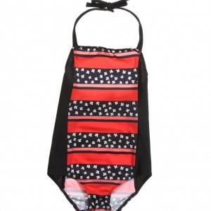 SONIA RYKIEL PARIS Girls Red & Navy Blue Printed Swimsuit