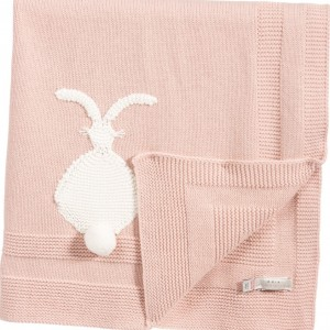 STELLA MCCARTNEY KIDS Pink Cashmere Mix Blanket 'snowball'