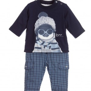 ABSORBA Baby Boys Blue Top & Trousers Set