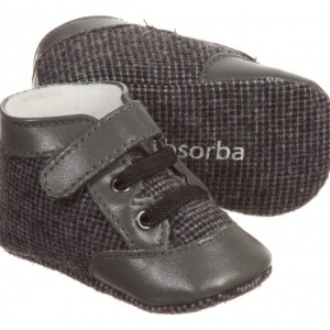 ABSORBA Baby Boys Grey Pre-Walker Shoes