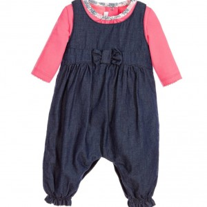 ABSORBA Baby Girls 2 Piece Top & Denim Dungarees Set
