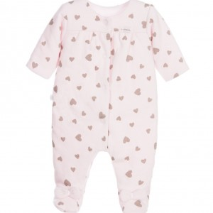 ABSORBA Baby Girls Lightly Padded Pink Cotton Babygrow