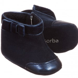 ABSORBA Baby Girls Navy Blue Bootees