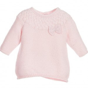 ABSORBA Baby Girls Pink Knitted Dress