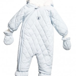 ABSORBA Pale Blue Padded Baby Snowsuit