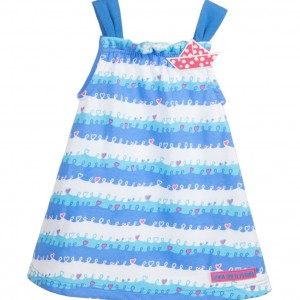 AGATHA RUIZ DE LA PRADA Blue Wave Cotton Jersey Dress