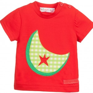 AGATHA RUIZ DE LA PRADA Boys Red Cotton T-Shirt with Watermelon