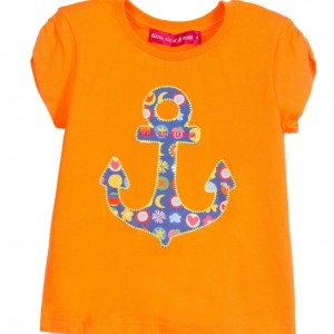 AGATHA RUIZ DE LA PRADA Girls Orange Anchor Cotton Jersey T-Shirt