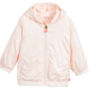 BILLIEBLUSH Baby Girls Pale Pink Fold-Away Jacket