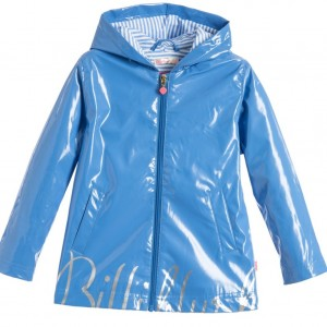 BILLIEBLUSH Girls Blue Raincoat with Hood