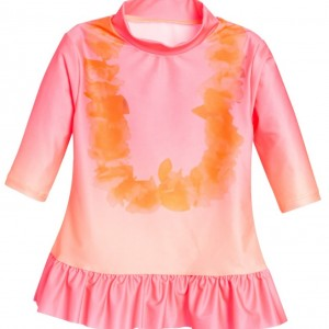 BILLIEBLUSH Girls Pink Sun Protective Top