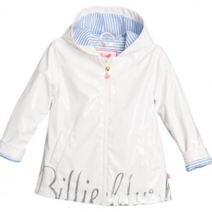 BILLIEBLUSH Girls White Raincoat with Hood