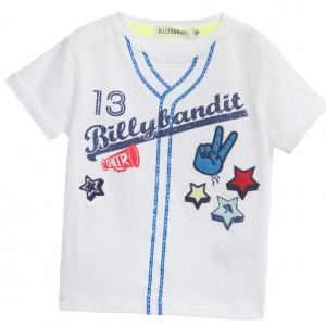 BILLYBANDIT Baby Boys 'Baseball' Print White T-Shirt