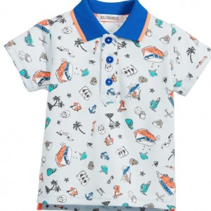 BILLYBANDIT Baby Boys Blue 'Hawaii' Print Polo Shirt