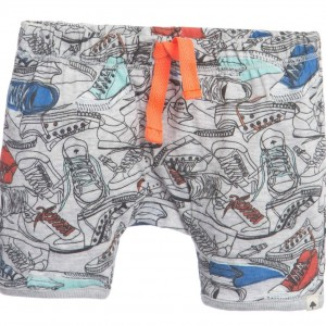 BILLYBANDIT Baby Boys Grey 'Sneaker' Print Shorts