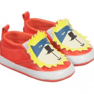 BILLYBANDIT Baby Boys Red Slip-On Pre-Walker Shoes