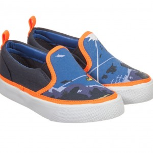 BILLYBANDIT Boys Blue Canvas Super Hero Trainers