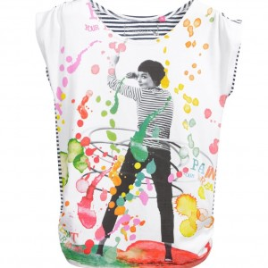 CAKEWALK Girl White Printed 'Keddy' T-Shirt