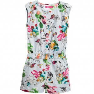 CAKEWALK Girls Blue Cacti Print 'Sydney' Cotton Playsuit