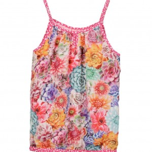 CAKEWALK Girls Floral 'Emily' Satin Top