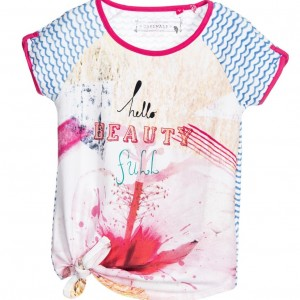 CAKEWALK Girls Flower Printed 'Kaliko' T-Shirt