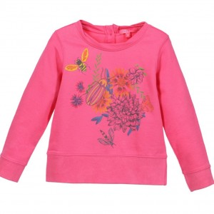 CAKEWALK Girls Hot Pink 'Norma' Floral Sweatshirt