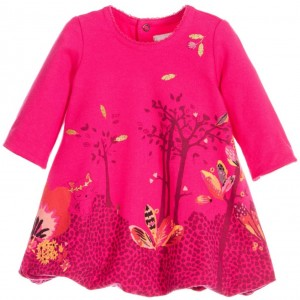 CATIMINI Baby Girls Pink Cotton Bubble Dress