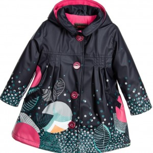 CATIMINI Navy Blue Raincoat with Hood