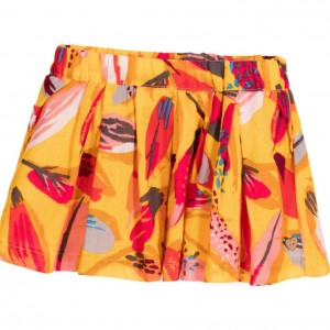 CATIMINI Yellow Cotton Floral Skirt
