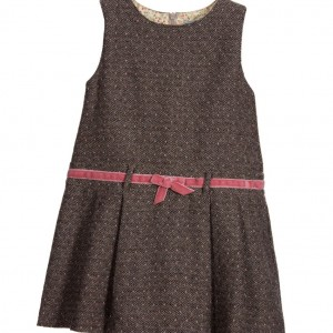 DARCY BROWN Brown & Pink Woven Pinafore Dress