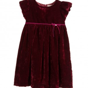DARCY BROWN Burgundy Red Silk Velvet Dress