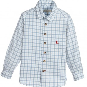 DARCY Boys Blue Check Cotton Shirt