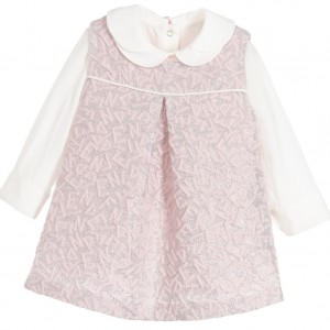 FENDI Baby Girls Pink & Ivory 2 Piece Dress Set