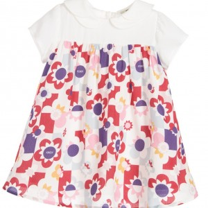 FENDI Baby Girls Silk & Viscose Floral Dress & Knickers