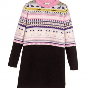 FENDI Black Wool & Cashmere Knitted 'Monster' Dress