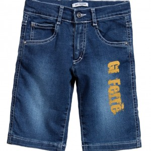 GF FERRE Boys Blue Denim Bermuda Shorts