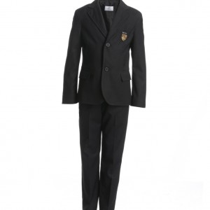GF FERRE Boys Grey Wool Suit