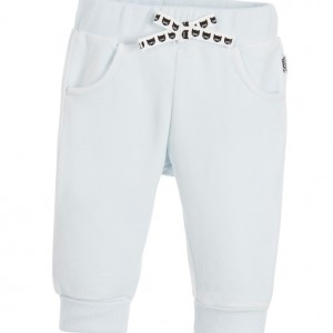 KARL LAGERFELD KIDS Light Blue Velveteen Tracksuit Trousers