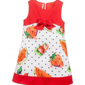 LAURA BIAGIOTTI DOLLS Red Cotton Watermelon Dress